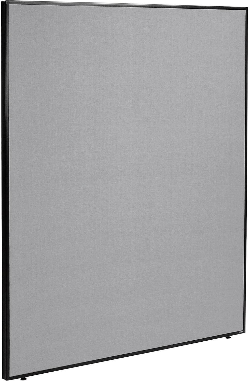 "60-1/4""W x 72""H Office Partition Panel, Gray"