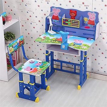 Juego de sillas de escritorio para niños, altura ajustable, mesa ...