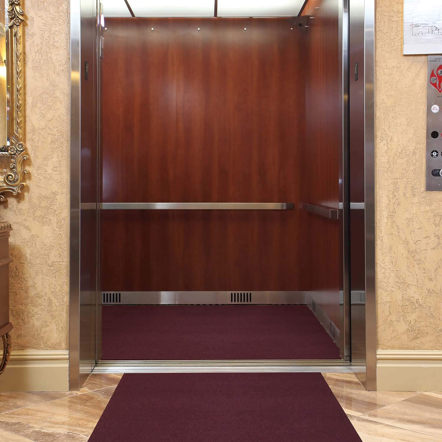 Elevator Mat by New Pig - 6' x 10' - Protect High Traffic Elevator Floors - Elevator Carpet Protects Floors from Wet Shoes
