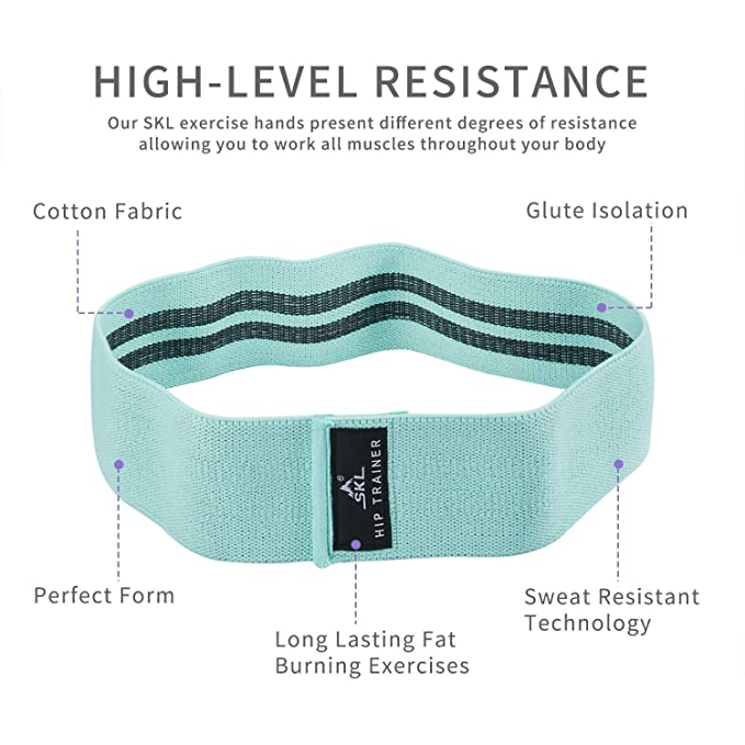 Amazon.com : Resistance Hip Band 3 Pack Booty Resistance Glute Bands - Fitness Loop Circle Exercise Legs & Butt - Activate Glutes & Thighs, Soft & Non-Slip ...