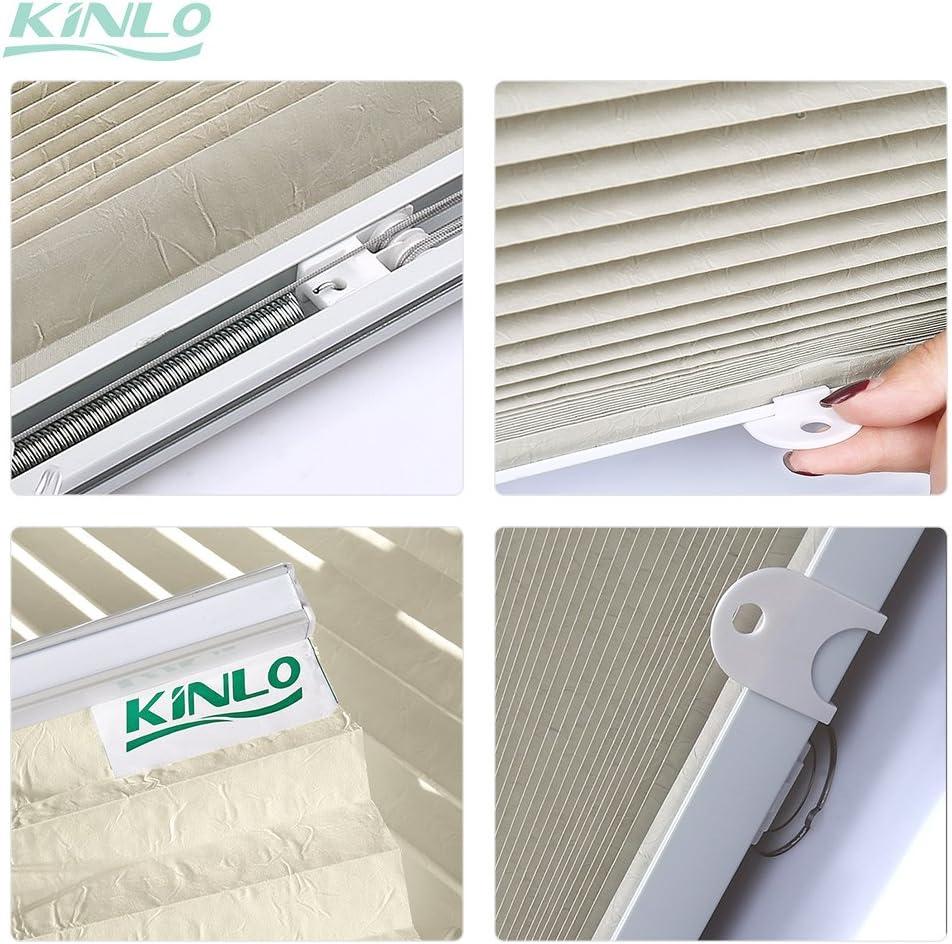 Kinlo 65x130 Cm Blanc Store Pour Fenêtre De Toit Avec