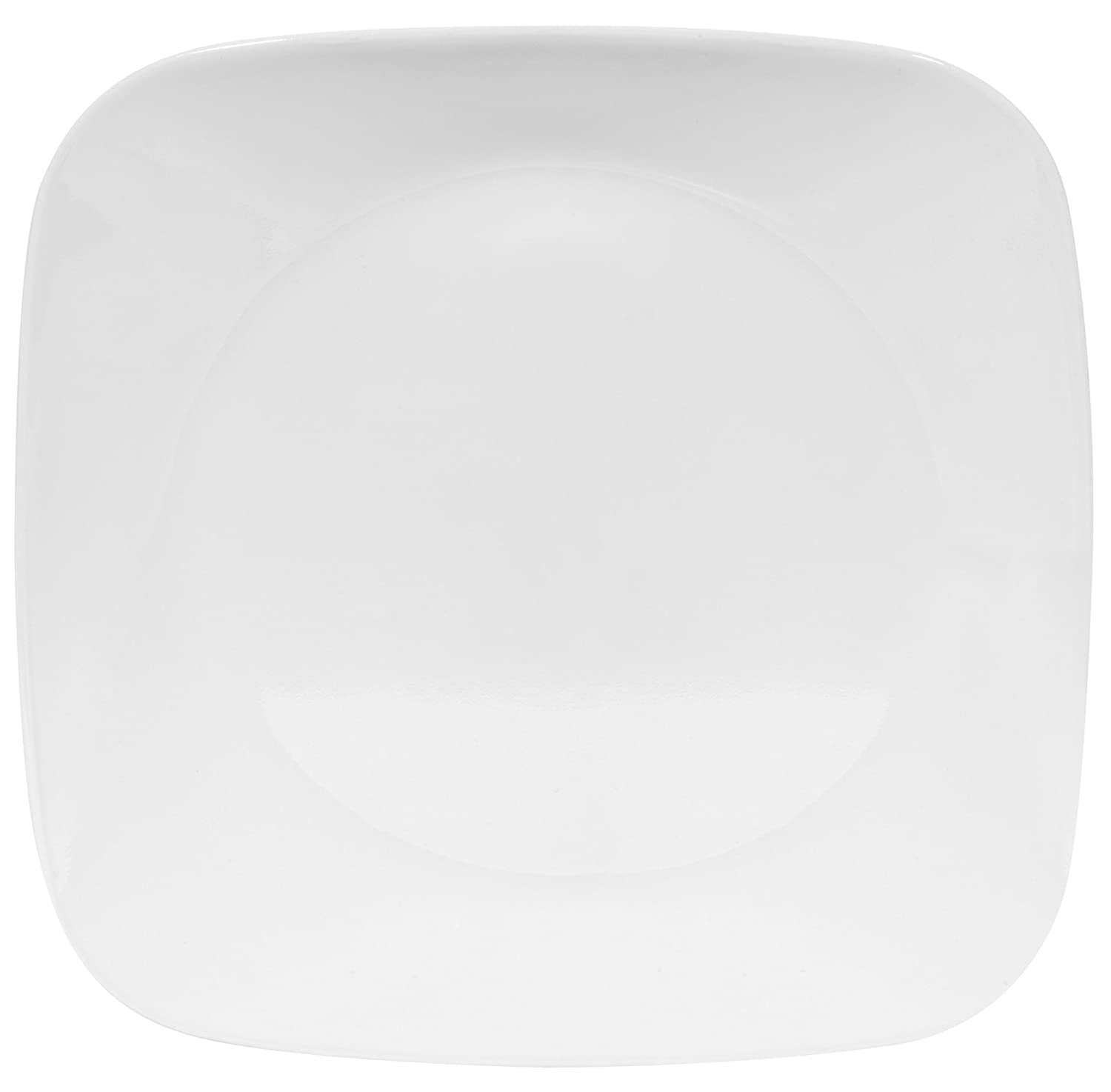 Corelle Square 8-3/4-Inch Luncheon Plate, Pure White 1069960