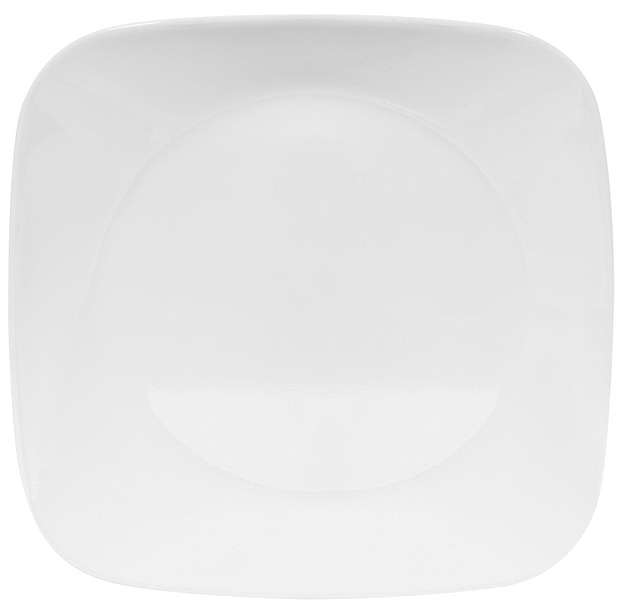 Corelle Square 8-3/4-Inch Luncheon Plate, Pure White