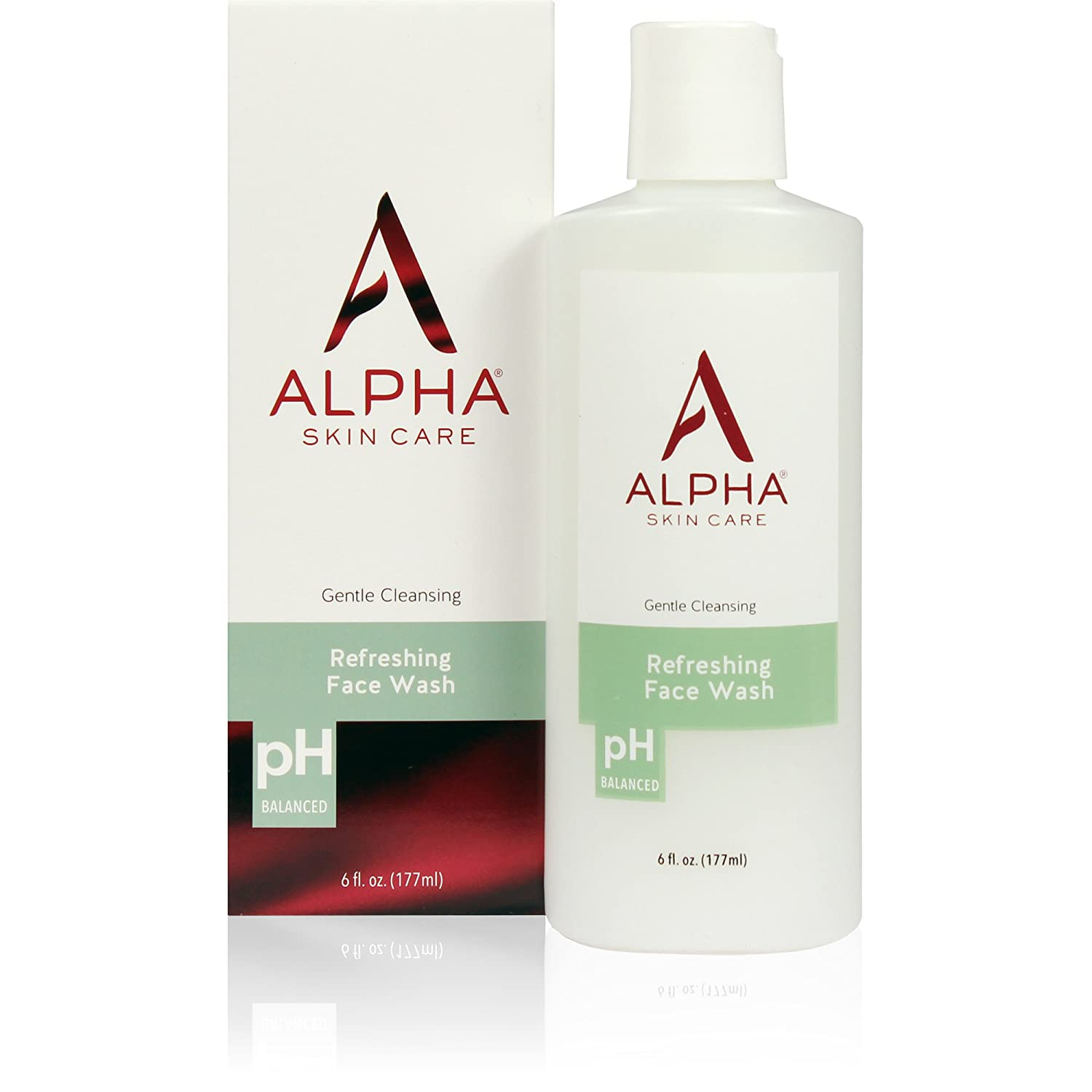 Alpha Skin Care - Refreshing Face Wash, Gentle Cleanser, Restores Ideal PH, for All Skin Types| 6-Ounce (Packaging May Vary) NEOTERIC COSMETICS - INC