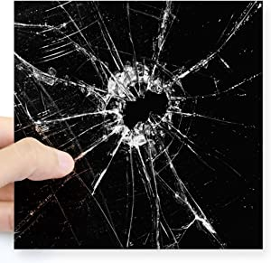 "CafePress Broken Glass 1 Sticker Square Bumper Sticker Car Decal, 3""x3"" (Small) or 5""x5"" (Large)"