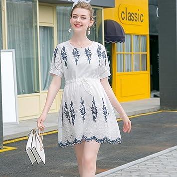 ZH Las mujeres embarazadas falda de verano, las mujeres embarazadas tendencia de moda, camisa