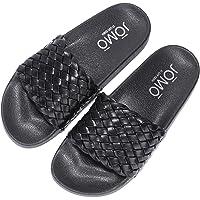 Cape Robbin Presents JOMO Cobo Sandals Slides for Women, Womens Mules Slip On House Shoes