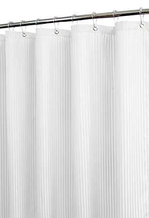 Grey White Striped Shower Curtain. Park B  Smith Satin Stripe Shower Curtain with Hooks White Amazon com