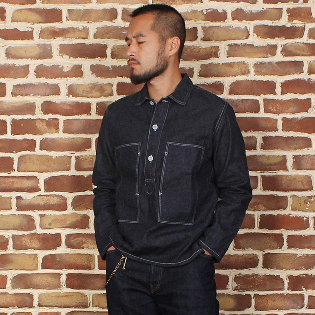 Men's Vintage Workwear – 1920s, 1930s, 1940s, 1950s Bronson 30S CCC Denim Work Jumper Shirt $74.99 AT vintagedancer.com