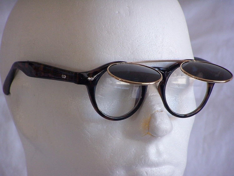 Lunettes de soleil rétro années 50vintage Flip Up Glasses Femme Homme rf197 GELB-GRÜN VERSPIEGELT CH7qn