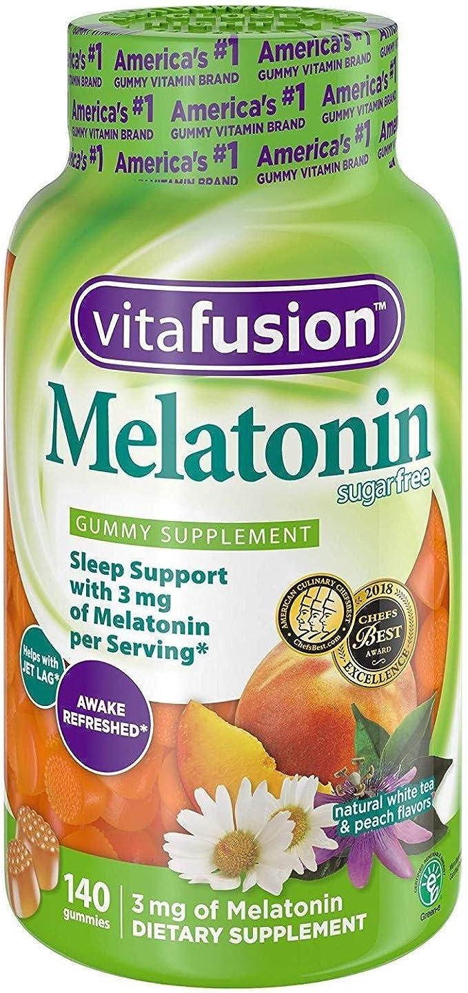 Amazon.com: Vitafusion gomitas con Melatonina, 140 unidades ...
