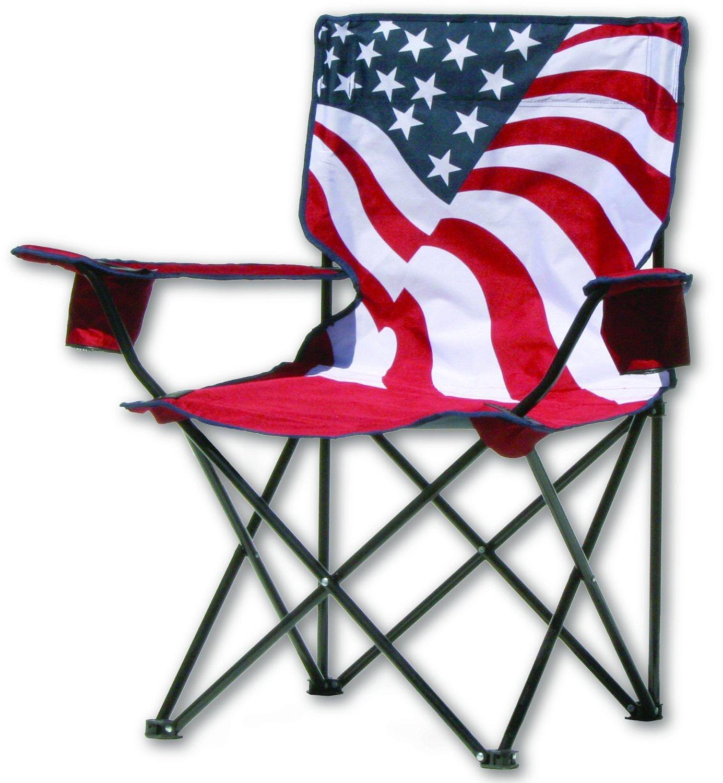 Quik Chair US Flag Folding Chair [並行輸入品] B01IRFU8JW