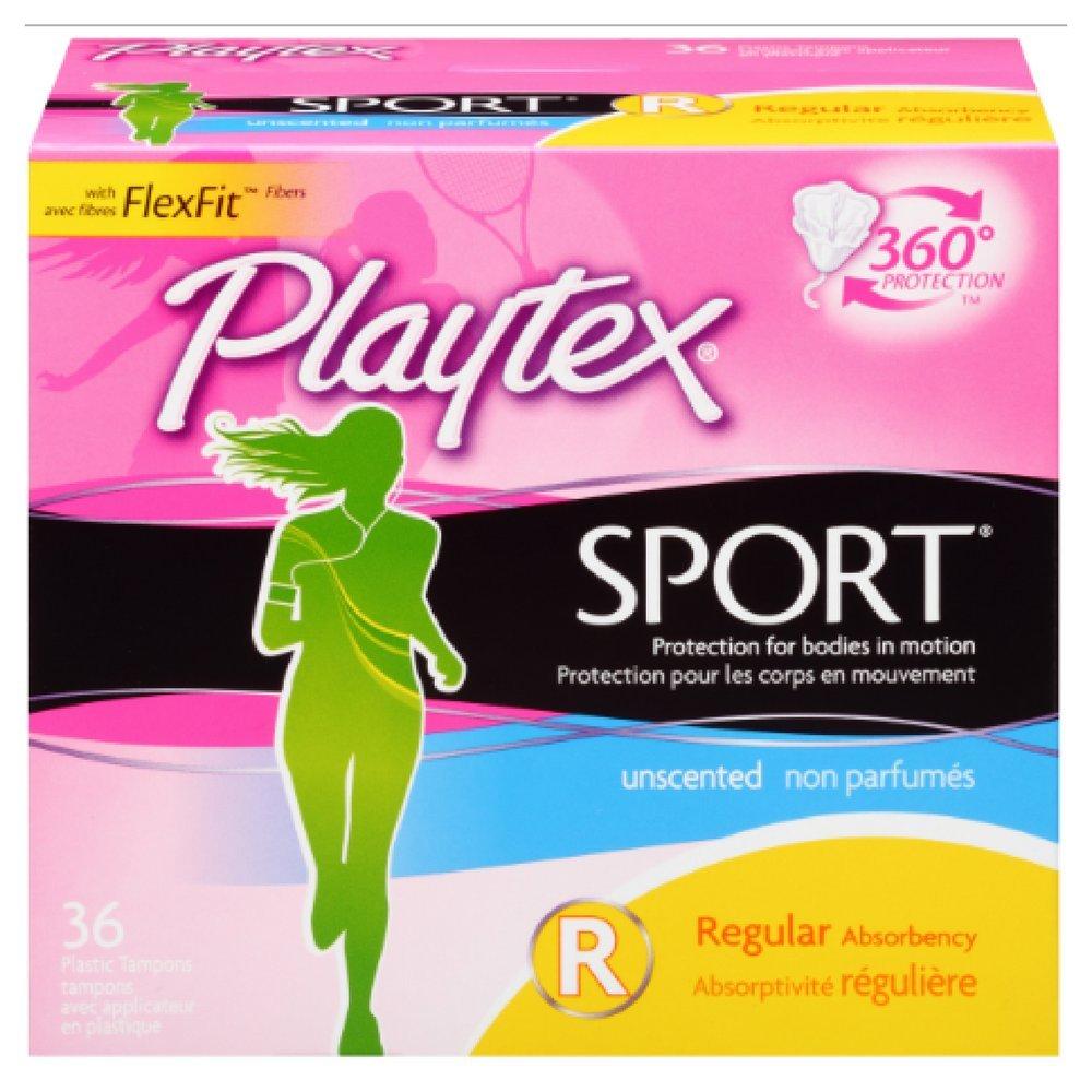Playtex Sport Unscented Multi-Pack Tampons 36 ea (Pack of 11)