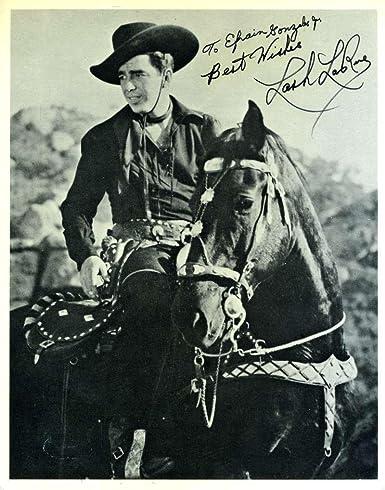 Lash Larue Cowboy Coa Signed 8x10 Photo Authenticated Autograph
