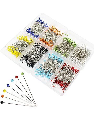 Ulable 800pcs bola cabeza alfileres de costura acolchado extra cristal cabeza tornillos para sastre de costura