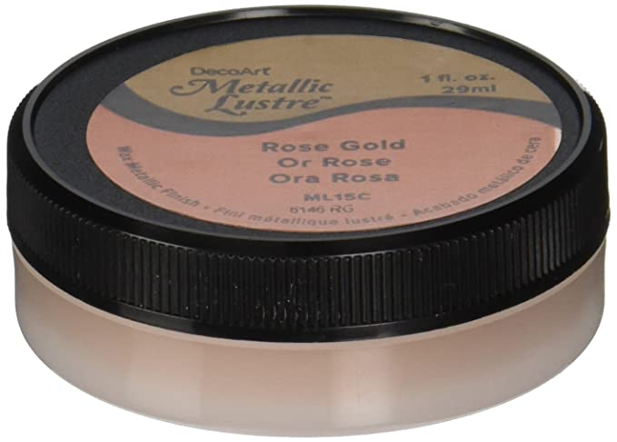 Amazon com decoart metallic lustre wax finish 1 oz rose gold