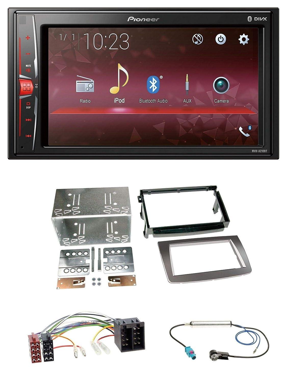 caraudio24 Pioneer MVH-A210BT 2DIN MP3 AUX USB Bluetooth Autoradio f/ür Alfa Romeo Mito ISO 955 08-14 Silber