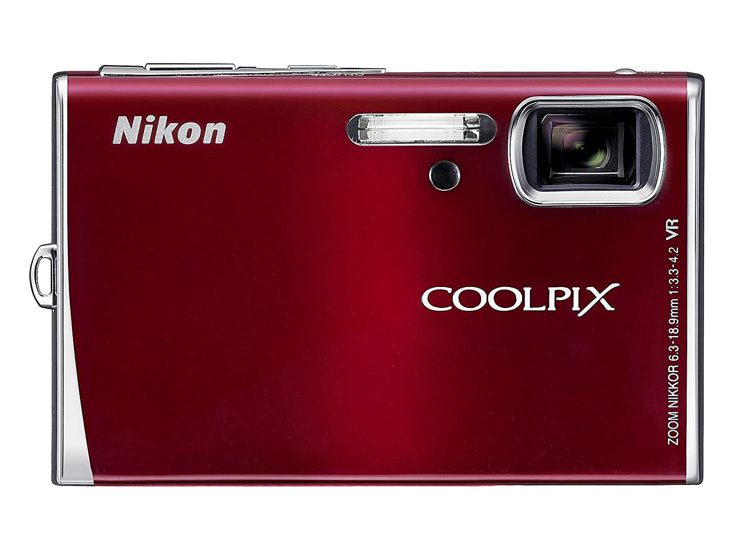 Nikon Coolpix S52 9MP Digital Camera Zoom with 3x Optical Vibration Reduction Zoom (Red)
