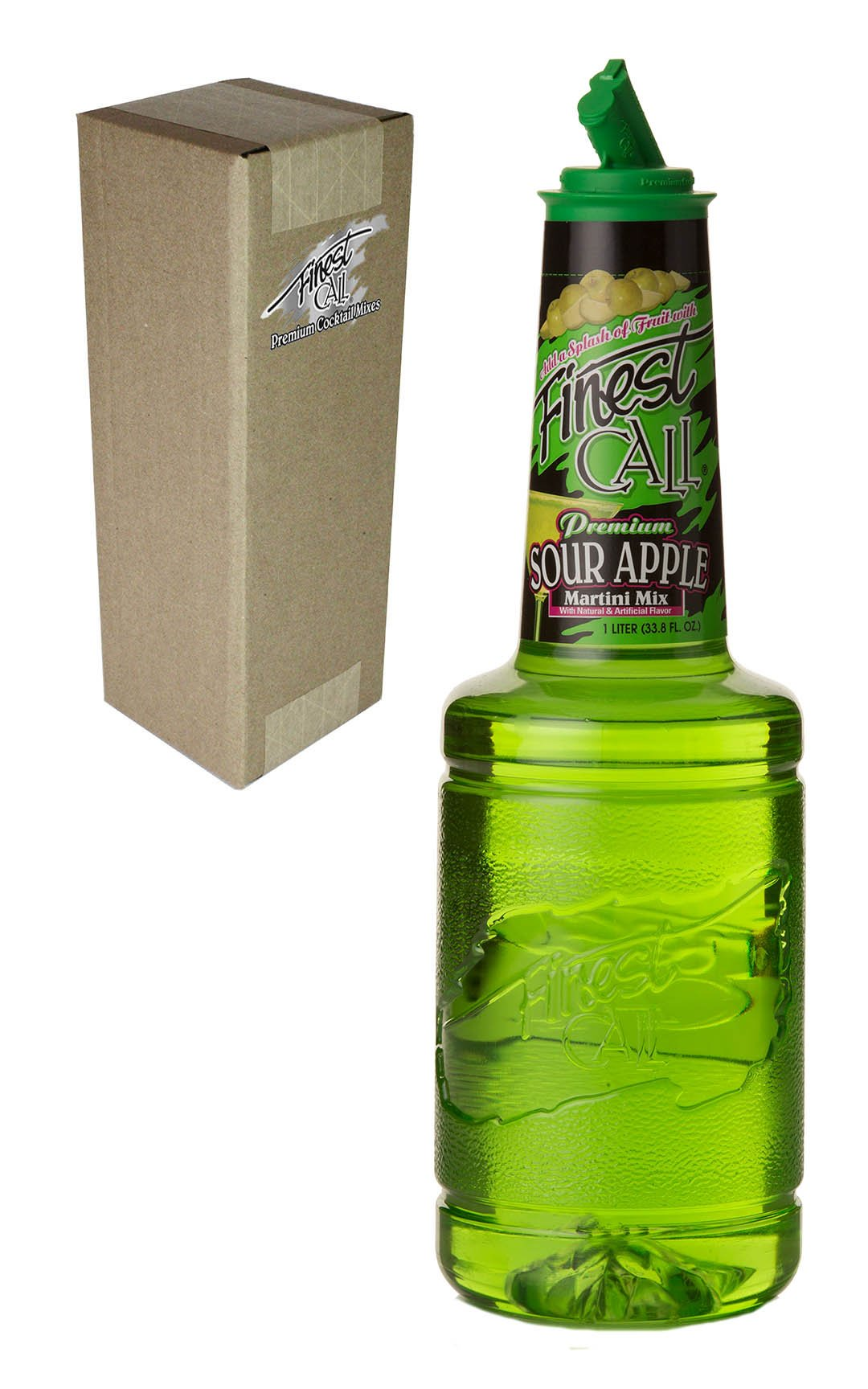 Finest Call Premium Sour Apple Martini Drink Mix, 1 Liter Bottle (33.8 Fl Oz), Individually Boxed by Finest Call