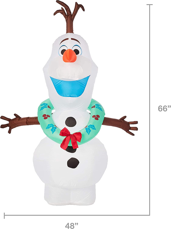 Amazon.com: Gemmy - Olaf inflable de 5.5 in de alto con ...