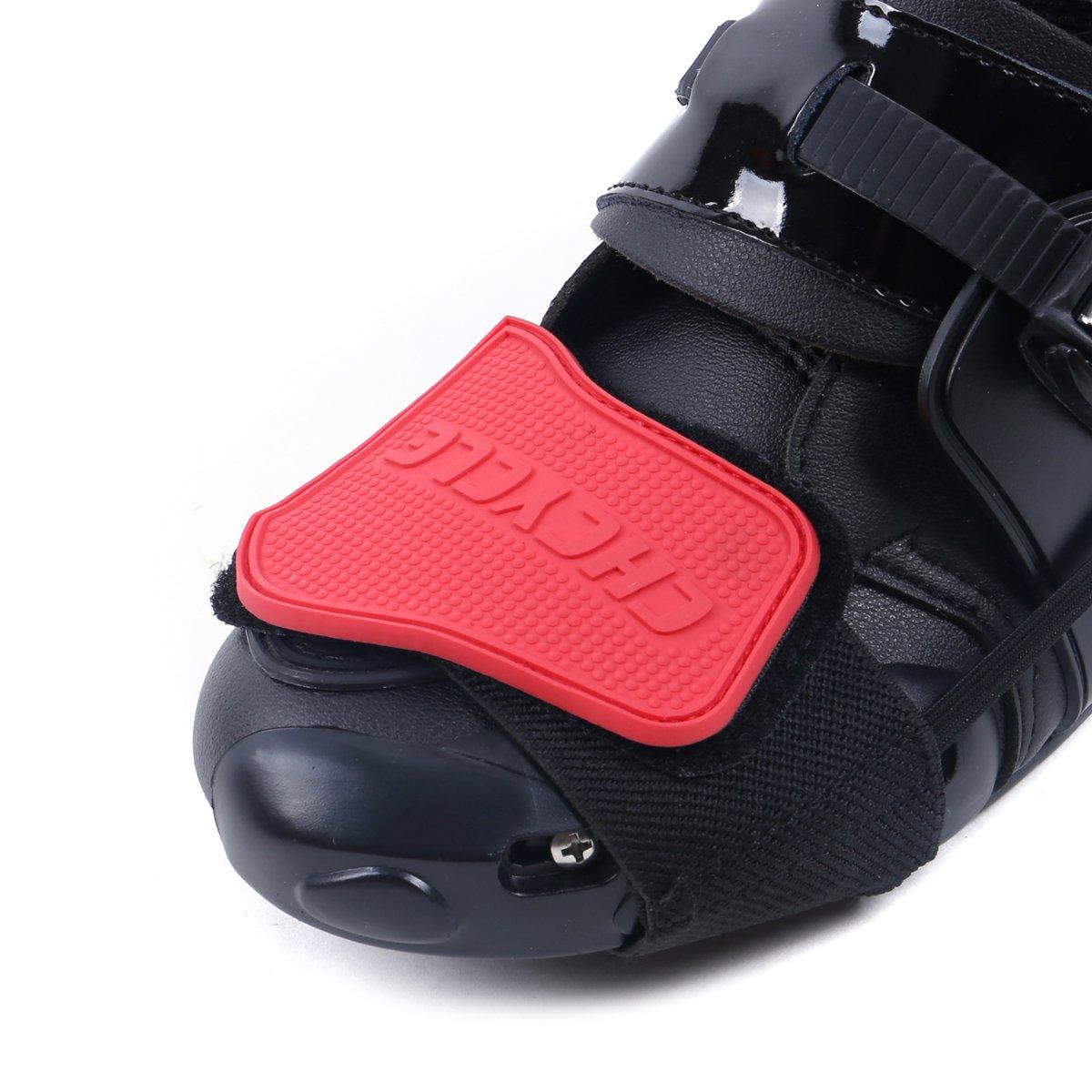 Madbike Accesorios de Cambio de Engranaje para Zapatos Botas de Motocicleta Protector (Black) Lening SP02BK