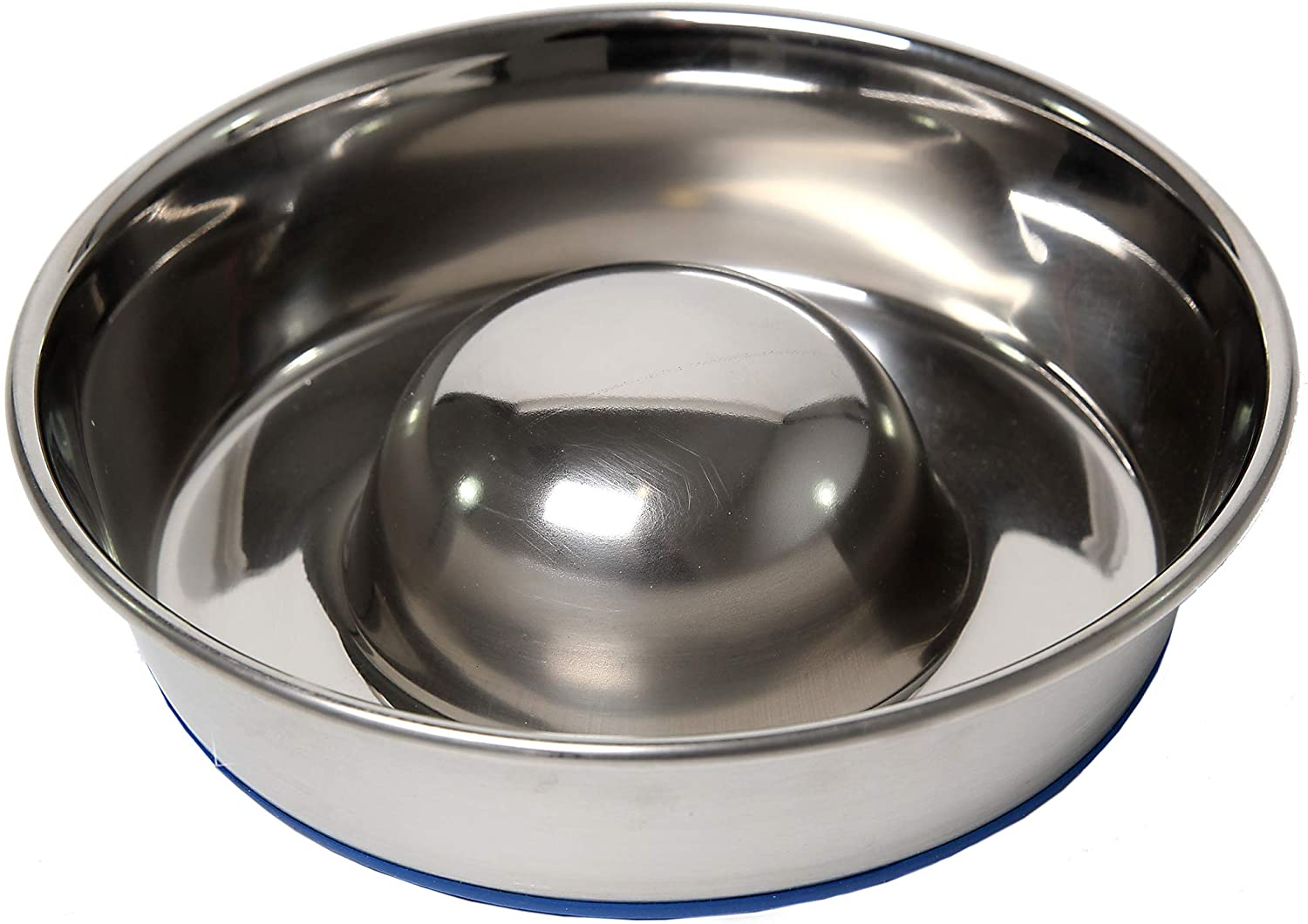 OurPets DuraPet Slow Feed Premium Stainless Steel Dog Bowl (Durable Stainless Steel Dog Bowls, Slow Feeder Dog Bowls, Dog Food Bowl, Dog Water Bowl) Great Alternative to Snuffle Mat for Dogs