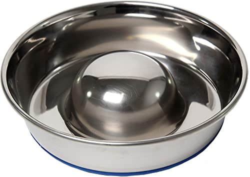 OurPets-DuraPet-Slow-Feed-Premium-Stainless-Steel-Dog-Bowl