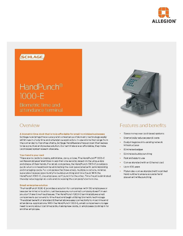 Amazon new handpunch 1000e biometric time clock hp1000e amazon new handpunch 1000e biometric time clock hp1000e office products colourmoves