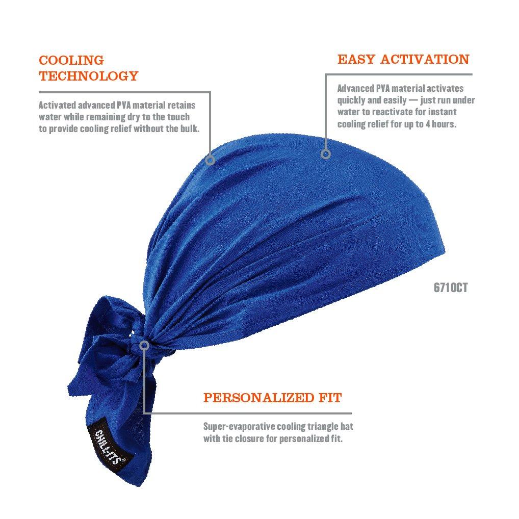Chill-Its 12587 Bandana en triangle rafra/îchissant par /évaporation avec serviette rafra/îchissante