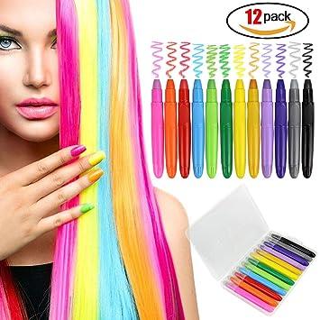 Hair Chalk For Girls Kids Colourful Hair Chalk Pens Set - Hair colour chalk