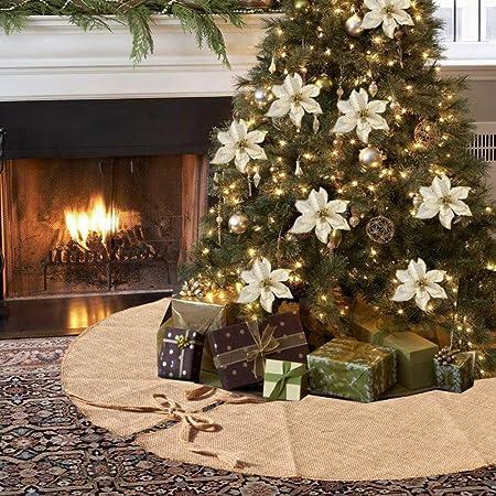 Albero Di Natale Juta.Amajoy Gonna Albero Di Juta Di Natale 90 Cm 35 Pollici Decorazione Albero Di Natale Decorazione Natalizia Amazon It Casa E Cucina