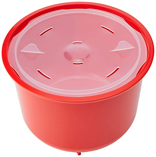 Sistema Olla de Vapor para Arroz, Color Rojo