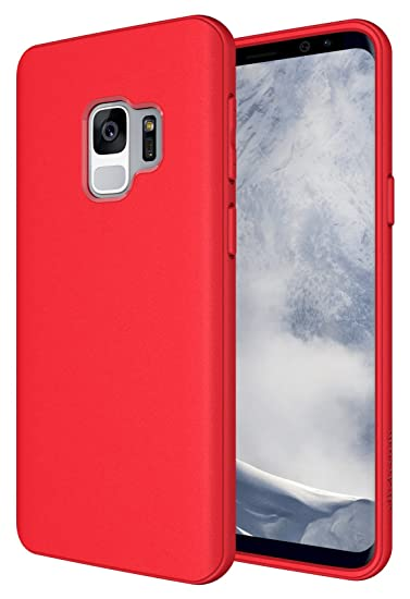 best service 949f9 f3b20 Galaxy S9 Case, Diztronic Full Matte TPU Series - Slim-Fit Flexible Phone  Case for Samsung Galaxy S9 - (Matte Red)