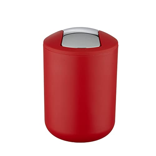 "WK ""Brasilia Table Top Kitchen Waste/Cosmetics Small Bin (Red)"