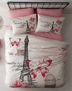 Amazon.com: 100% Turkish Cotton 4 Pcs!! Ranforce Paris Eiffel