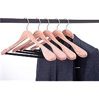 Cocomaya 17.5 Inch Cedar Wood Suit Hanger Coats Hanger Jacket Hanger with Extra-Wide Shoulder and Screwed Velvet Pants…