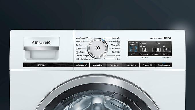 Siemens IQ700 WM14VM40 Lavadora/9 kg/A+++/152 kWh/1400 U/min/WiFi ...
