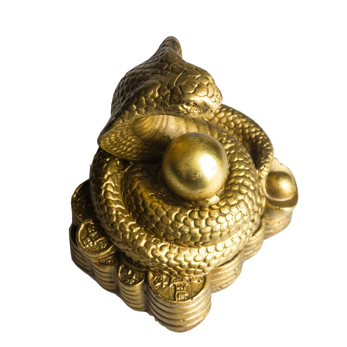 Brass Chinese Zodiac Ingots Snake Statue Home Decoration Collectibles by Brass Statu (Image #5)