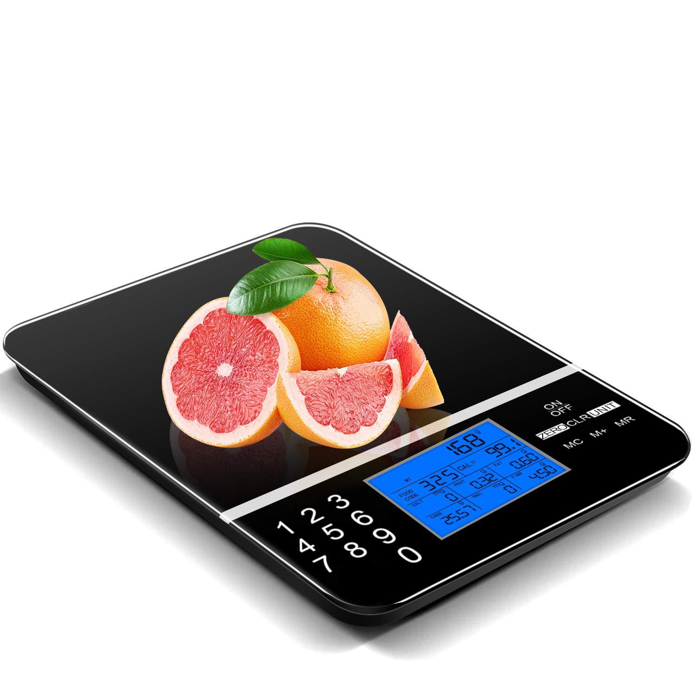 IDAODAN Smart Food Scale,Digital Nutrition Kitchen Scale, Coffee Scale, Food Scales Digital Weight Grams and OZ,Digital Nutrition Kitchen Scale - Accurate Food and Nutrient Calculator