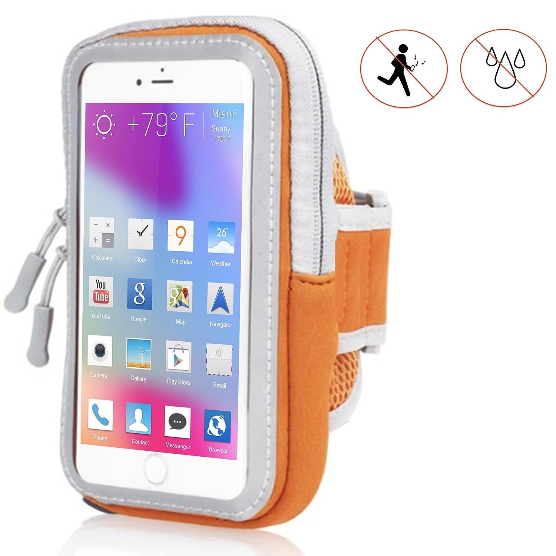 Handy Schutzhülle Tasche | für Sony Xperia XZ Premium | Sport armband zum Laufen, Joggen, Radfahren | SPO-2 Orange