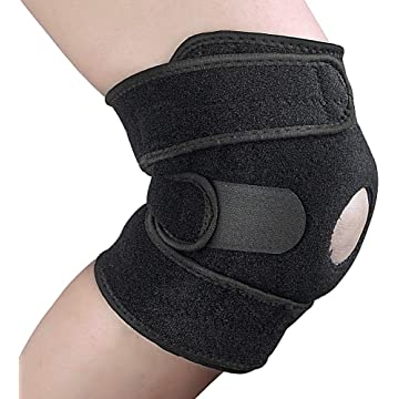 Knee Brace Support,Open Patella Brace for Arthritis, Joint Pain Relief, Injury Recovery with Adjustable Strapping & Breathable Neoprene Relieves ACL, LCL, MCL, Meniscus Tear, Tendonitis Pain