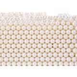 Makeup Beads for Brushes, Art Faux Pearls, HBlife 1100-Piece Round Pearl Beads to Hold Makeup Brush, Lipstick, Mascara, Eyeliner, 8mm (Beige)