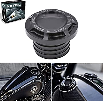 Chrome CNC Fuel Gas Cap For Harley Dyna Softail Sportster Touring 1996-2015