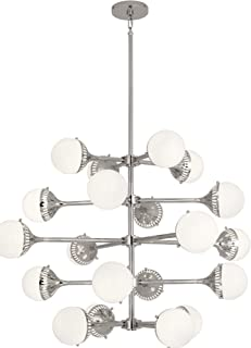 product image for Robert Abbey S789 Jonathan Adler Rio - Twenty Light Chandelier, Polished Nickel Finish with White Glass