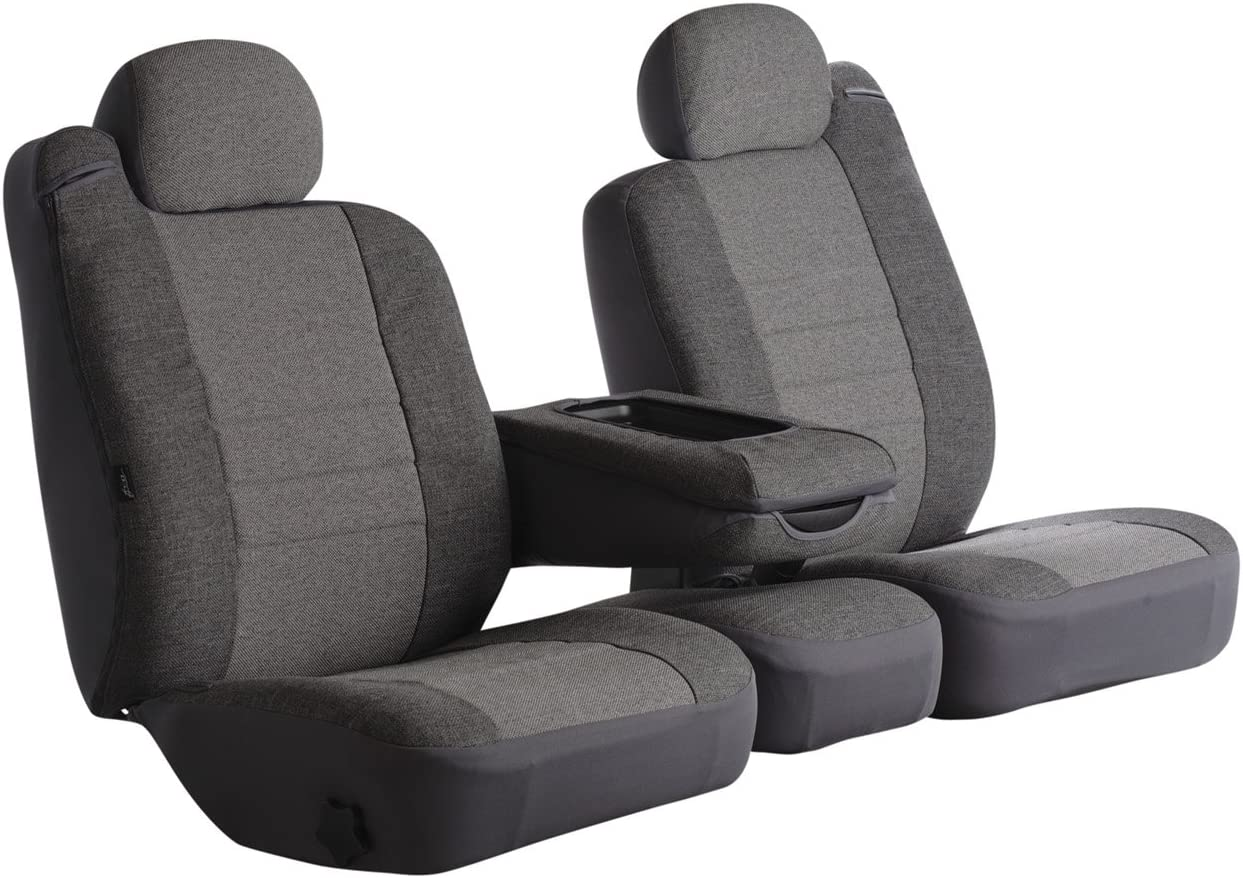 Gray Fia OE39-33 GRAY Custom Fit Front Seat Cover Bucket Seats Tweed,