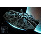 """Póster Star Wars """"Millenium Falcon/ El Halcón Milenario"""" (91,5cm x 61cm) + 1 póster sorpresa de regalo"""