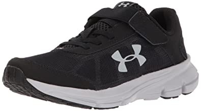 2eb47518eab Under Armour Boys' Pre School Rave 2 Adjustable Closure Sneaker, Black (001)