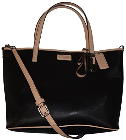 f6b63d8ced40d Image Unavailable. Image not available for. Color  Coach Park Metro Leather  Small Tote F25663 - Black