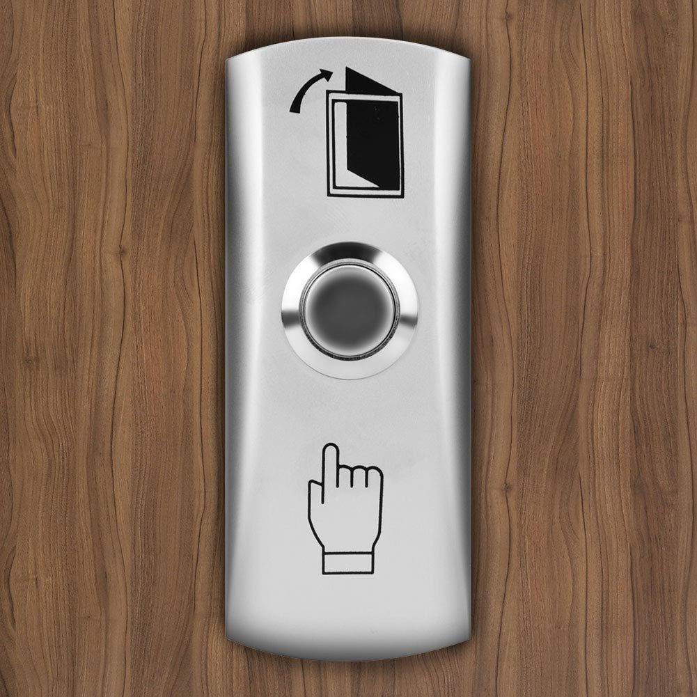 Interruptor de Liberaci/ón Interruptor ① Acero inoxidable T/áctil Puerta Pulsador para de Apagado//Encendido Puerta Desbloqueo Bot/ón de Salida Sistema de Control de Acceso