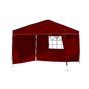 Amazon.de: Vanage Pavillon Stella Rot Aus Aluminium Mit 4 ... Gartenpavillon Aus Aluminium